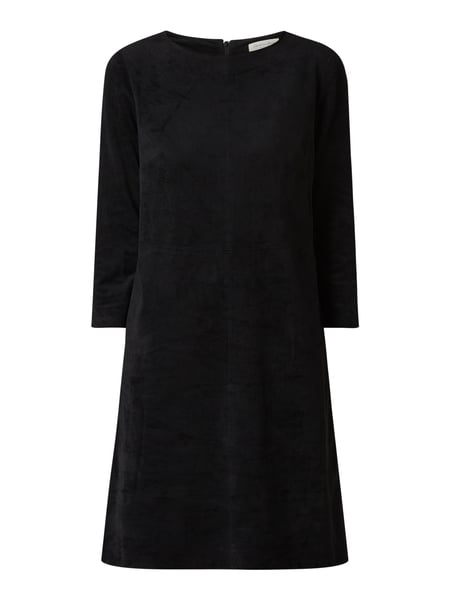 Christian Berg Women Kleid in Veloursleder-Optik Schwarz - 1