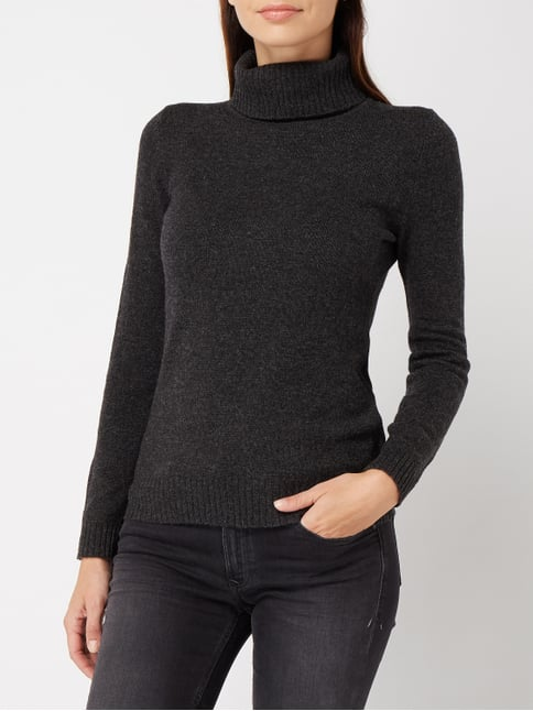 ... Christian Berg Women Pullover aus Wolle Anthrazit meliert - 1 09a99fc906