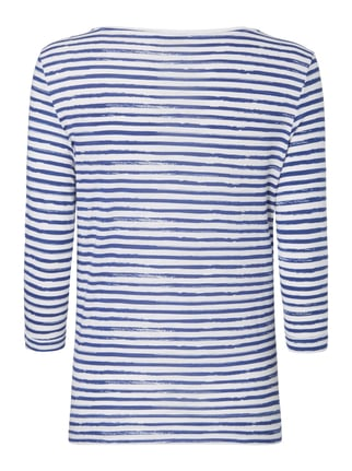 Christian Berg Women Shirt mit Streifenmuster und Message-Print Royalblau - 1