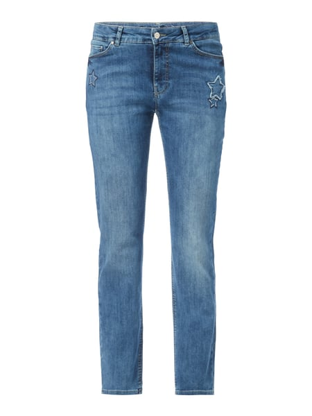 Christian Berg Women Stone Washed Slim Fit Jeans Blau meliert