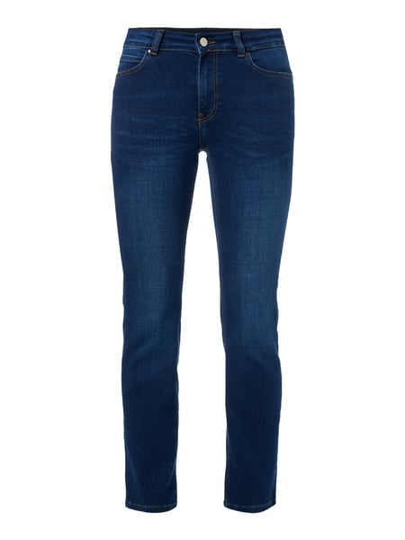 Stone Washed Straight Fit 5-Pocket-Jeans Blau / Türkis - 1
