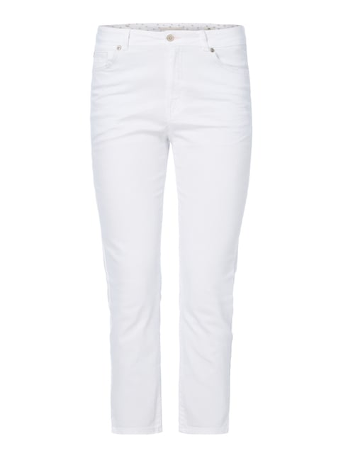 Straight Fit Ankle Cut Coloured Jeans Weiß - 1