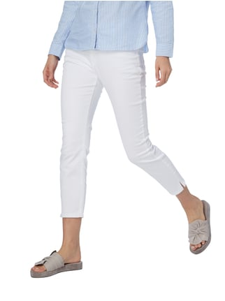 Christian Berg Women Straight Fit Ankle Cut Coloured Jeans Weiß - 1
