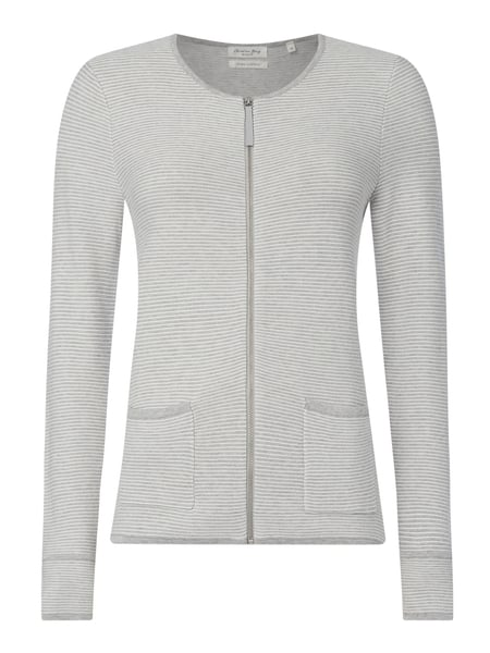 Christian Berg Women Strickjacke aus Baumwolle Grau - 1