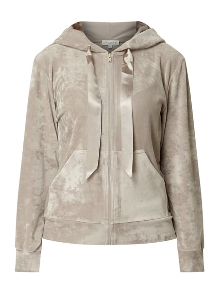 Christian Berg Women Sweatjacke aus Nicki Beige - 1