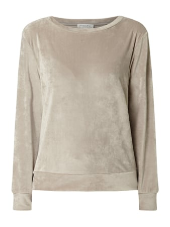 Christian Berg Women Sweatshirt aus Nicki Beige - 1
