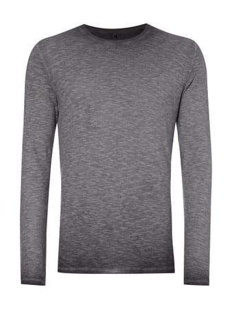 Longsleeve im Washed Out Look Grau / Schwarz - 1
