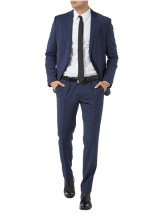 Cinque Super Slim Fit Business Hose mit feiner Webstruktur in Blau / Türkis - 1