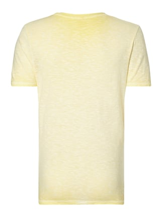 Cinque T-Shirt aus Slub Jersey im Washed Out Look Gelb - 1