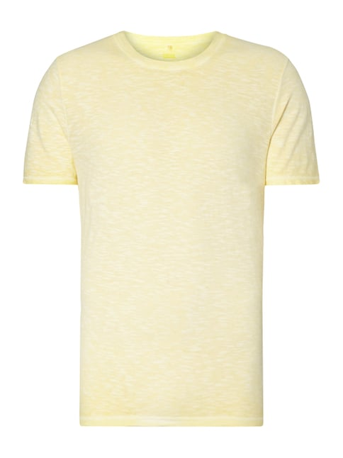 T-Shirt aus Slub Jersey im Washed Out Look Gelb - 1