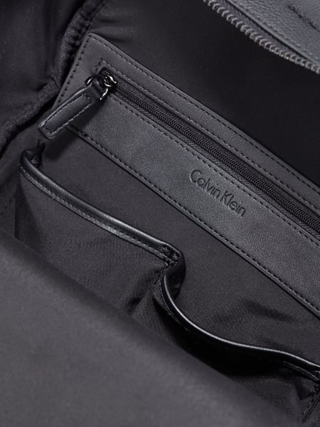 calvin klein rucksack mit frontfach in grau schwarz online kaufen 9675286 p c online shop. Black Bedroom Furniture Sets. Home Design Ideas
