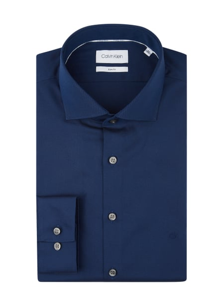 Calvin Klein Slim Fit Business-Hemd mit New-Kent-Kragen Blau / Türkis - 1