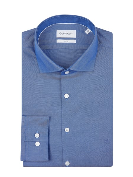 CK Calvin Klein Slim Fit Business-Hemd aus Oxford Blau - 1