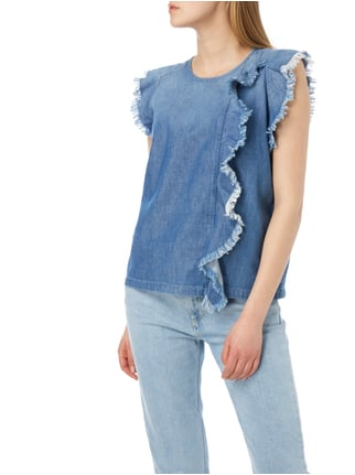 Closed Blusentop aus Denim Blau - 1