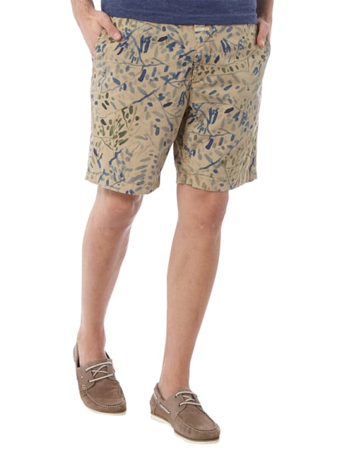 Closed Chinoshorts mit Allover-Muster Beige - 1