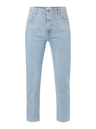 Girlfriend Jeans im Used Look Blau / Türkis - 1