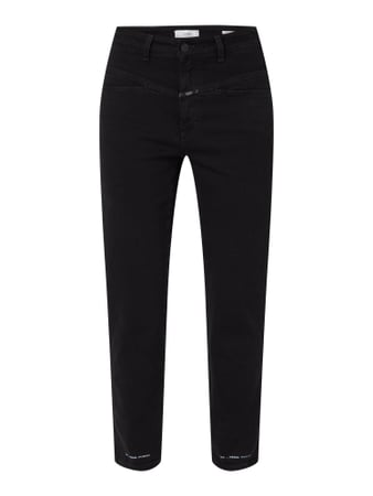 Closed High Waist Jeans in schmaler Passform Modell 'Pedal Pusher' Schwarz - 1