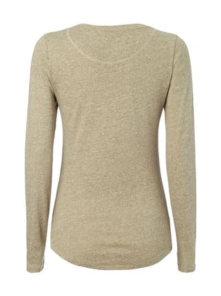Closed Longsleeve in Melangeoptik Olivgrün - 1