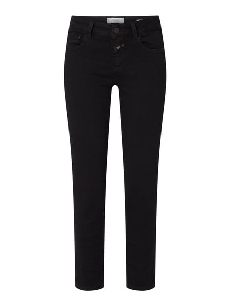 Closed Mid Waist Slim Fit Jeans Schwarz - 1