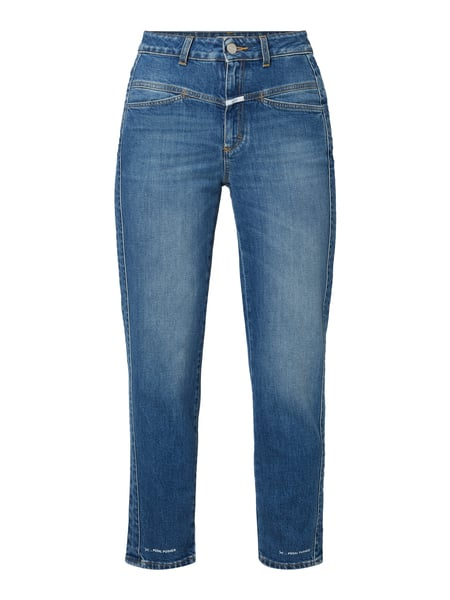 Closed Mom Fit High Waist Jeans mit Label-Patch Schwarz - 1