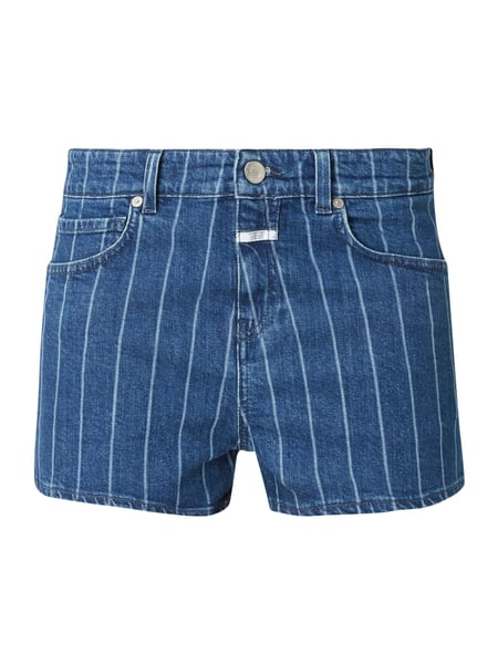 748adad046 CLOSED Regular Fit Jeansshorts mit Streifenmuster in Blau / Türkis ...