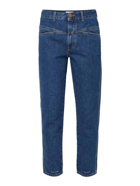 Closed Pedal Pusher - Rinsed Washed Mum Jeans aus Baumwolle Jeans