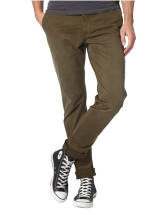 Closed Skinny Fit Chino im Used Look Olivgrün - 1