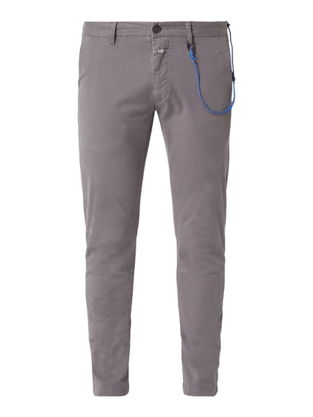 Closed Skinny Fit Chino mit Stretch-Anteil Grau / Schwarz - 1