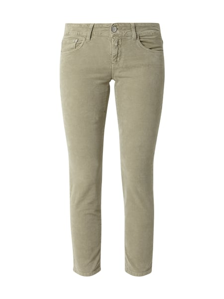 Closed Slim Fit 5-Pocket-Hose aus Samt Braun - 1