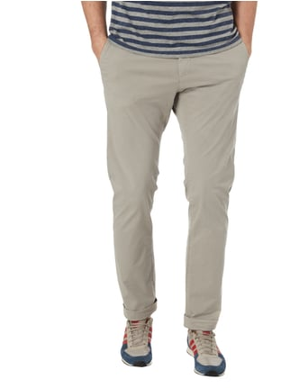 Closed Slim Fit Chino aus Baumwoll-Elasthan-Mix Hellgrau - 1