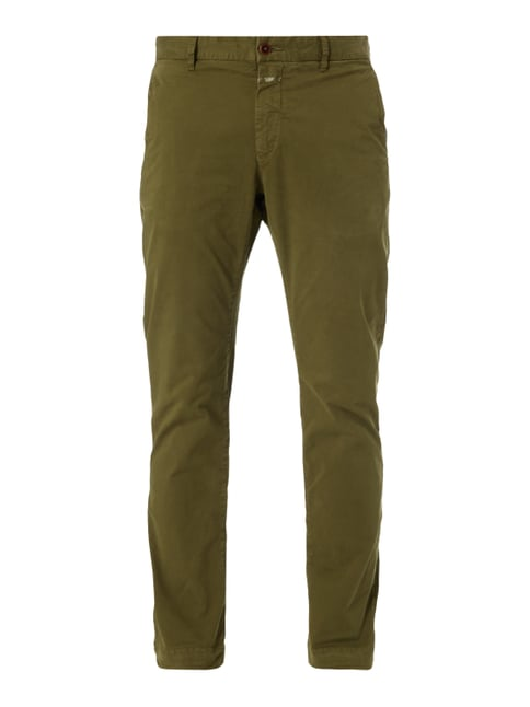 Slim Fit Chino aus Baumwoll-Elasthan-Mix Grün - 1