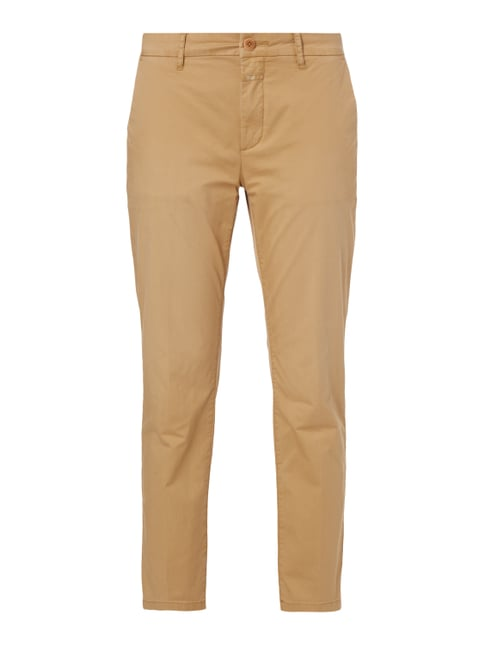 Slim Fit Chino mit Stretch-Anteil Weiß - 1