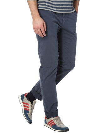 Closed Slim Fit Chino mit Stretch-Anteil Dunkelblau - 1
