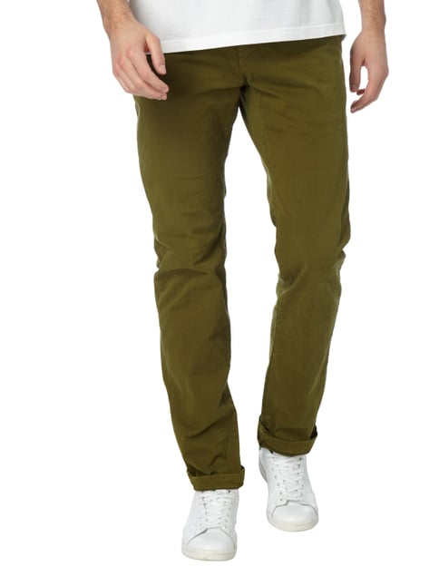 Closed Slim Fit Chino mit Stretch-Anteil Olivgrün - 1