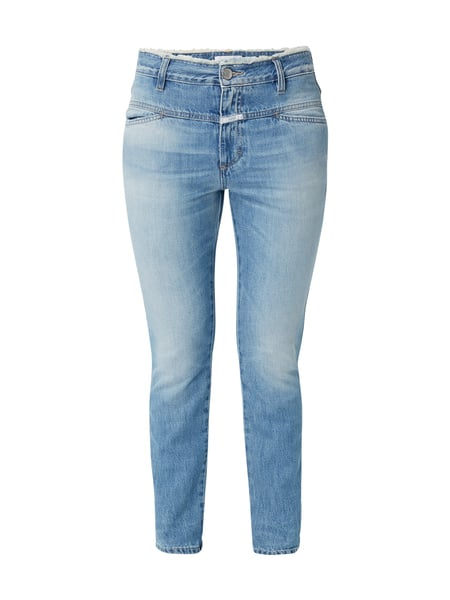 Closed Cropped Worker - Stone Washed Girlfriend Fit Jeans Jeans