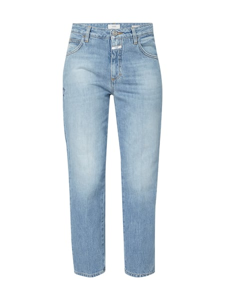 Closed Stone Washed Girlfriend Jeans mit Stickereien Blau - 1