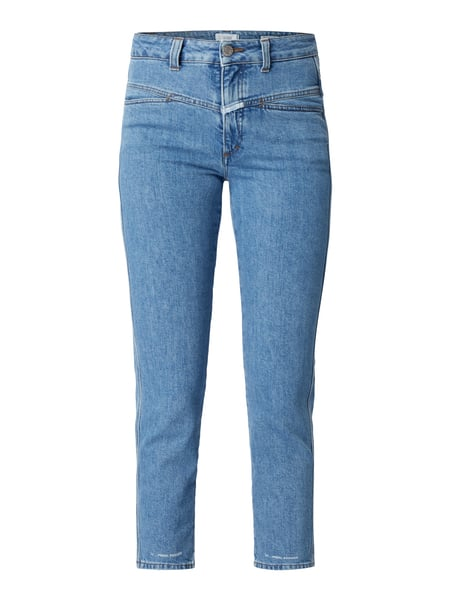 Closed Pedal Pusher - Stone Washed High Rise Cropped Jeans Jeans