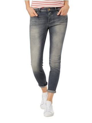 Closed Stone Washed Slim Fit 5-Pocket-Jeans Mittelgrau - 1