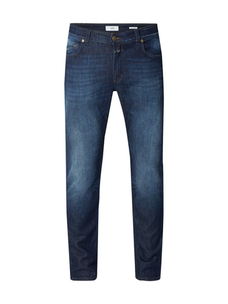 Closed Unity Slim - Stone Washed Slim Fit Jeans Dunkelblau meliert