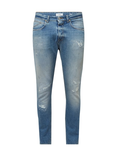 Closed Cooper Tapert - Tapered Fit 5-Pocket-Jeans im Destroyed Look Dunkelblau meliert