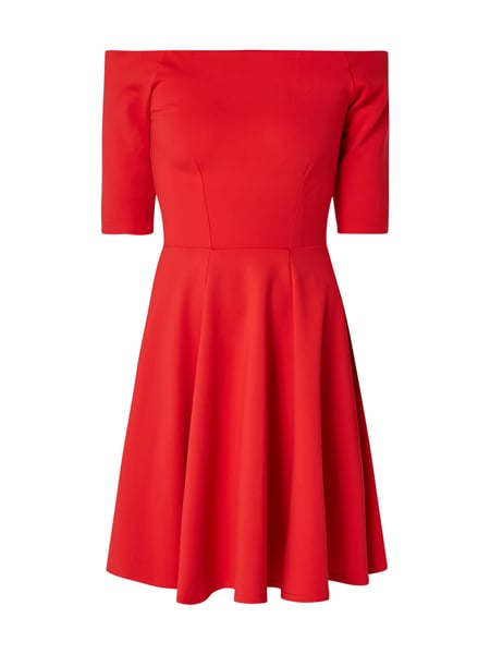 CLOSET LONDON Off Shoulder Kleid mit 1/2-Arm Rot - 1