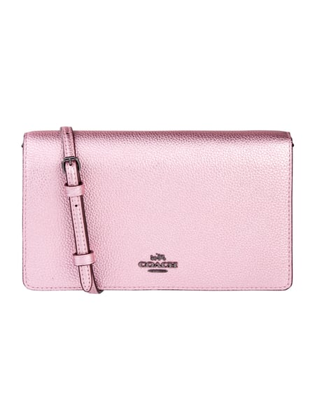 COACH Crossbody Bag aus Leder in Metallicoptik Metallic Rosa