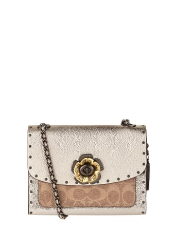COACH Crossbody Bag aus Leder mit Blüten-Applikation Gold - 1