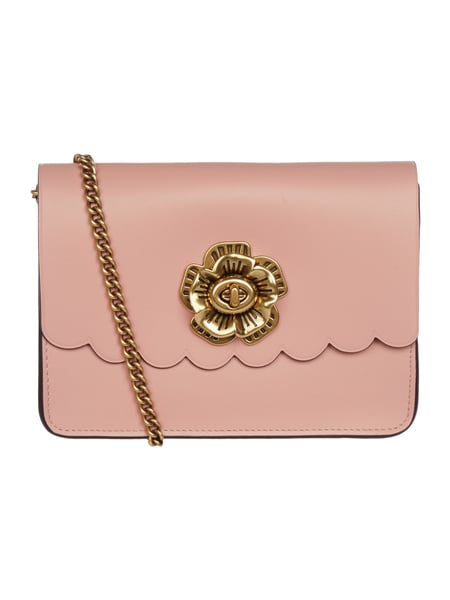 COACH Crossbody Bag aus Leder mit Blüten-Applikation Rosé - 1