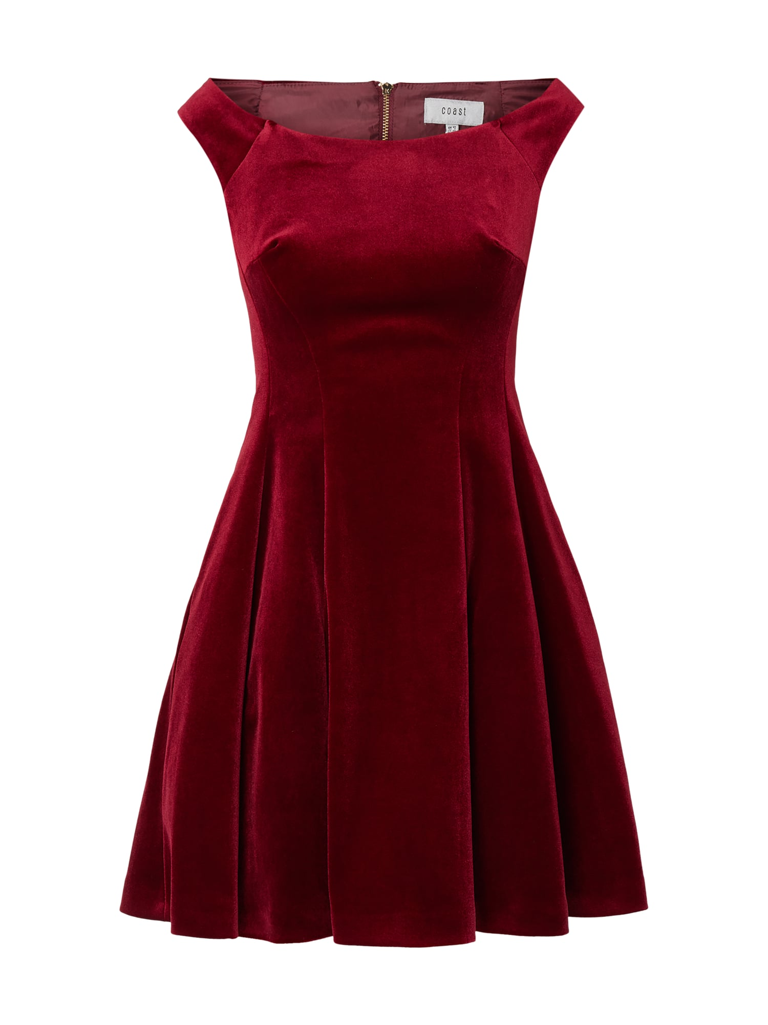 low priced 07681 481a2 COAST Cocktailkleid aus Samt in Rot online kaufen (9878206) ▷ P&C Online  Shop