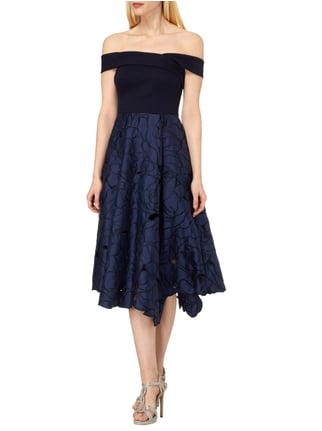 Coast Off Shoulder Cocktailkleid mit Schalkragen in Blau / Türkis - 1