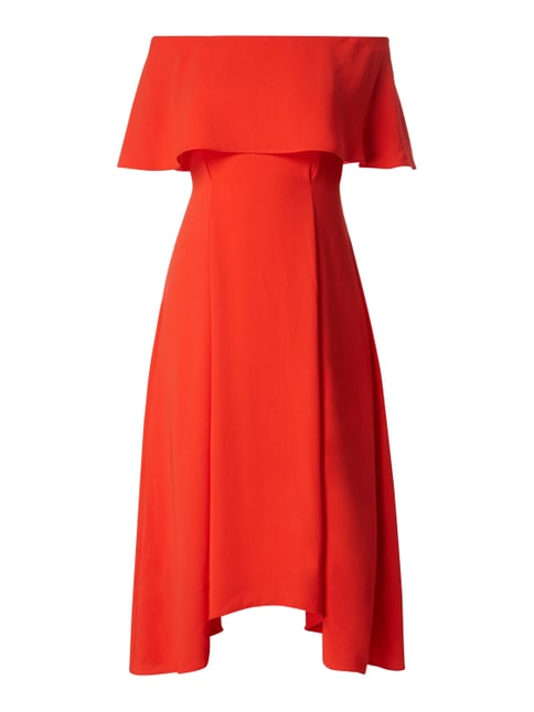 Off Shoulder Cocktailkleid mit Silikonstreifen Orange - 1