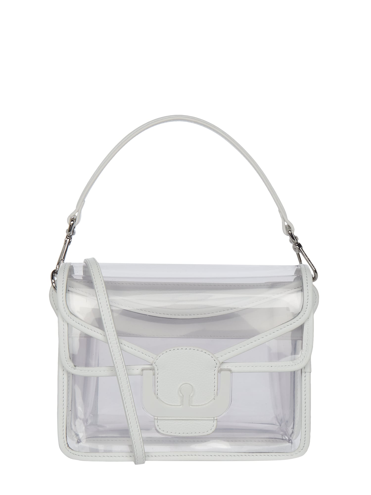 biggest discount united states lower price with COCCINELLE Crossbody Bag aus Leder in transparenter Optik in Weiß online  kaufen (9941012) ▷ P&C Online Shop