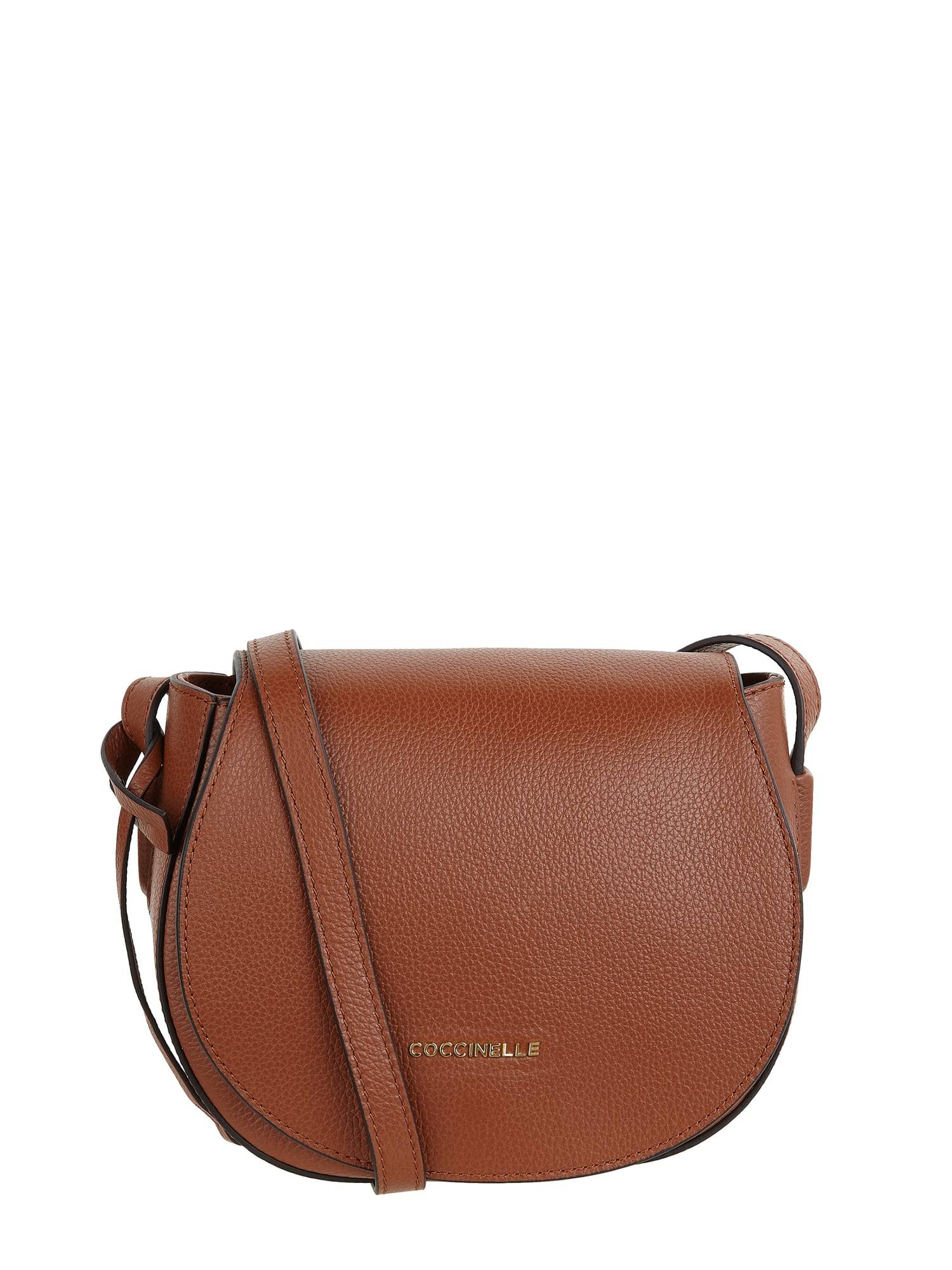 good texture famous brand really comfortable COCCINELLE Saddle Bag aus Leder mit Logo-Applikation in Braun online kaufen  (9901517) ▷ P&C Online Shop
