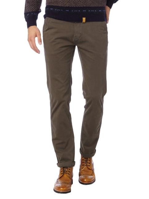 Colours & Sons Chino mit Stretch-Anteil Olivgrün - 1